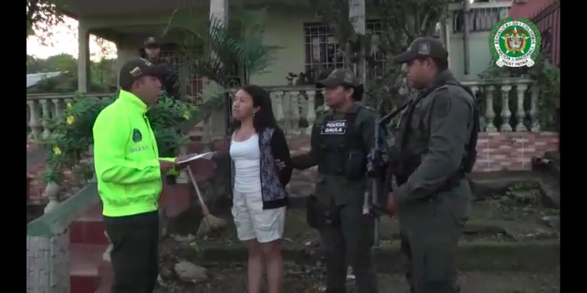 La Policía capturó ayer en su casa, en San Cayetano, a Nelly Yepes Posso. Le dicen 'la Patrona'.