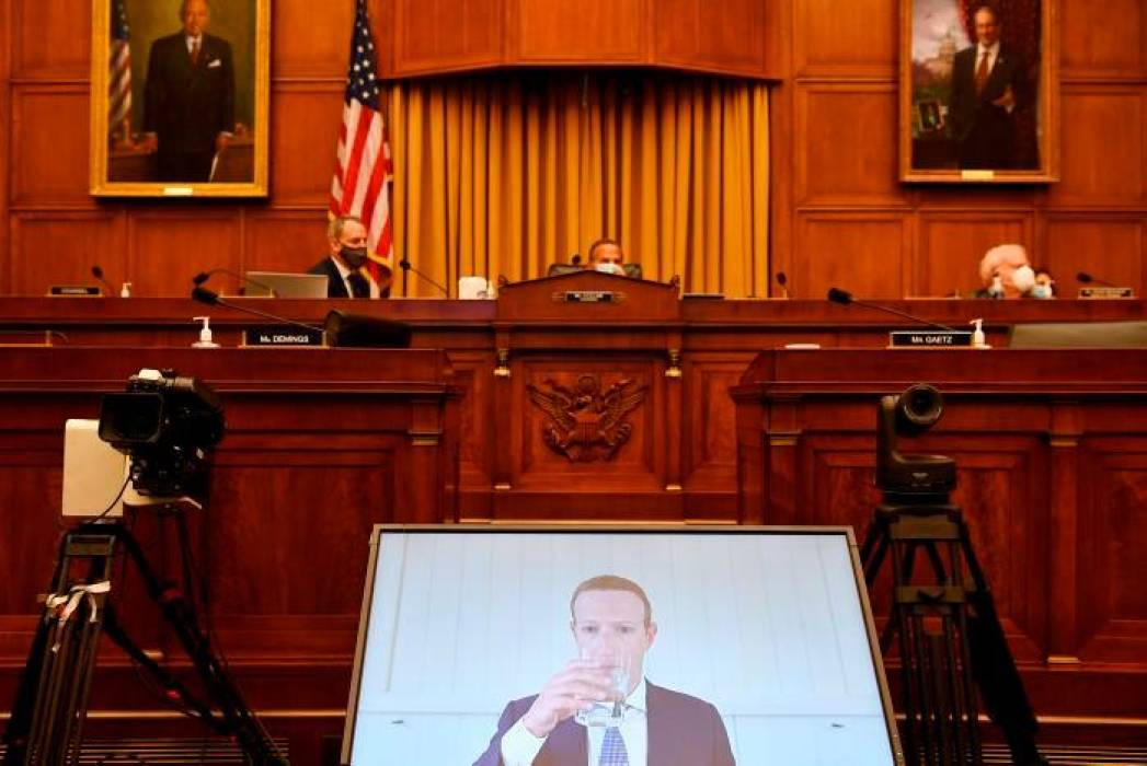 Directores de Facebook, Amazon, Google y Apple testifican en el Congreso de EEUU