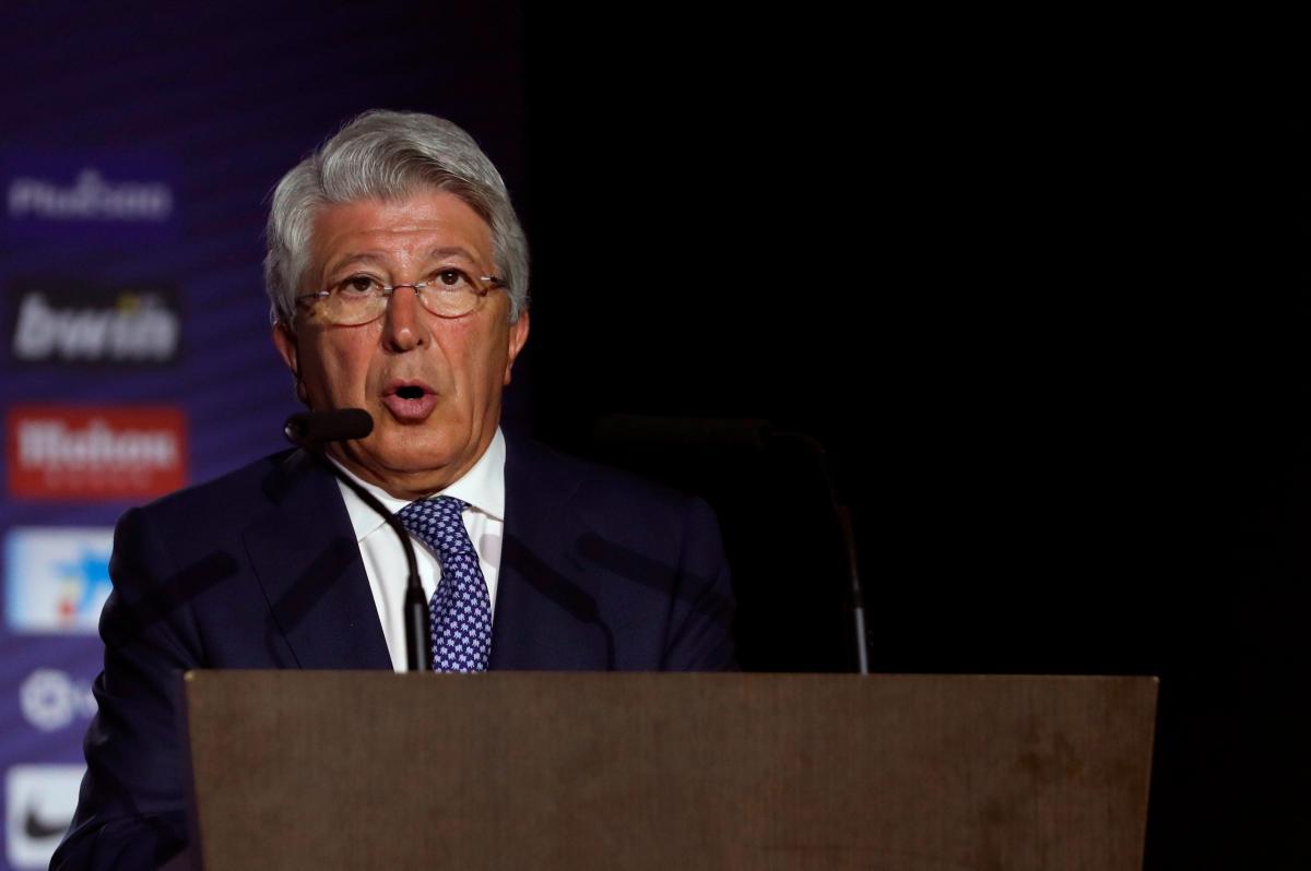 Enrique Cerezo, presidente del Atlético de Madrid. //EFE