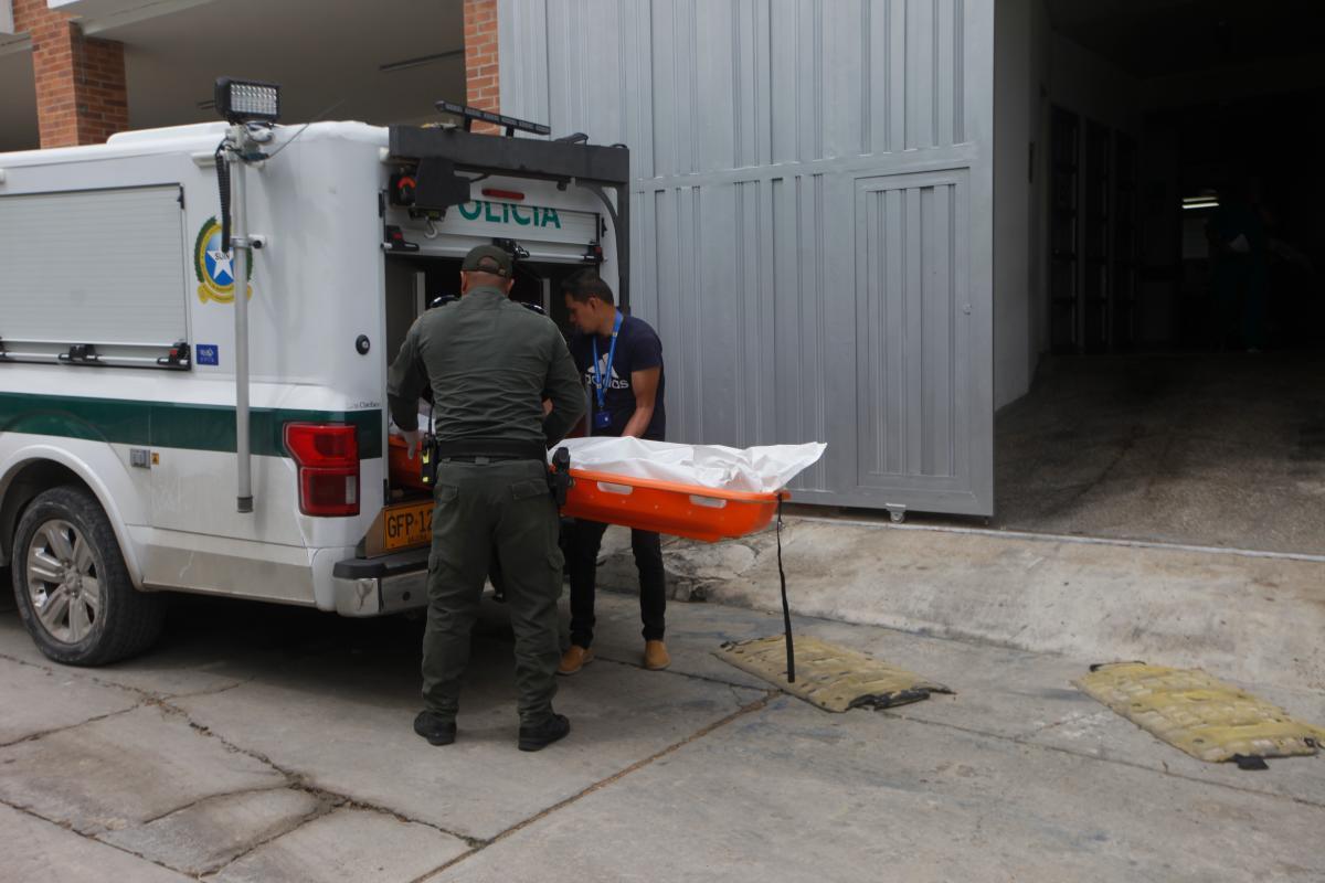 Funcionarios de la Sijín hicieron la inspección técnica del cadáver.
