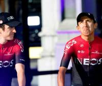 Geraint Thomas y Egan Bernal