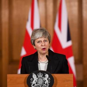 Primera ministra, Theresa May. // Foto: EFE CHRIS J. RATCLIFFE / POOL.