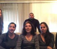 Familiares de Liliana Campos Puello. //Captura de video.