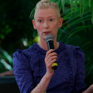 La actriz de Hollywood Tilda Swinton.