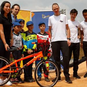 Chris Froome y Mariana Pajón