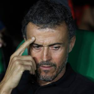Luis Enrique durante un partido de la Nations League. // AP