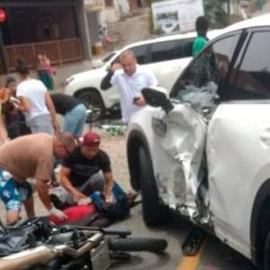 Jarlan Barrera salió ileso del accidente