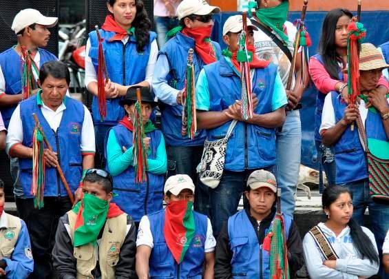 Indígenas refuerzan protestas durante noveno día de paro nacional en Colombia — ESPECIAL