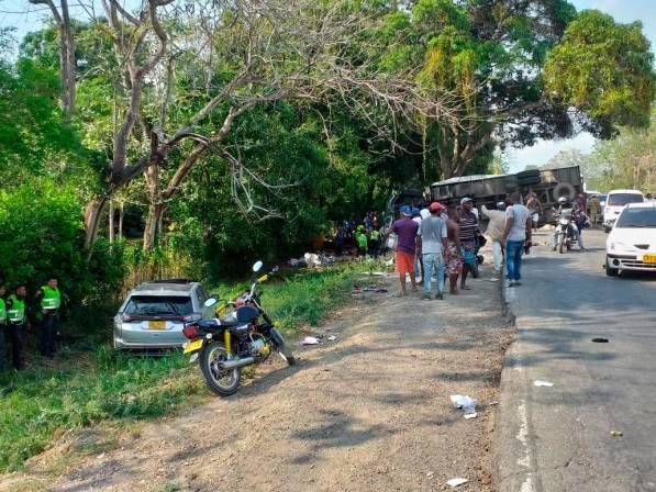 El accidente ocurrió entre Marialabaja y San Onofre, Sucre.