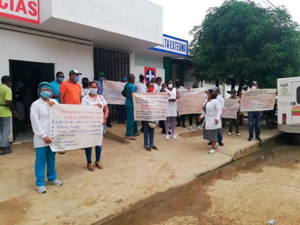 Trabajadores de la salud protestaron en Marialabaja