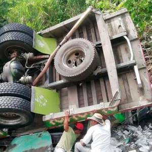 Accidente en la via Popayán - Pasto. //Colprensa.
