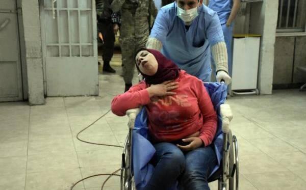 Más de 100 heridos por un ataque químico en Siria