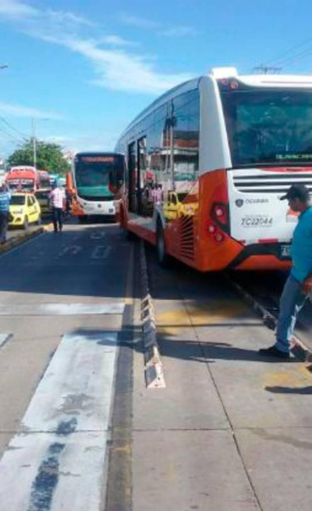 Transcaribe atropella a motociclista en la avenida Pedro de
