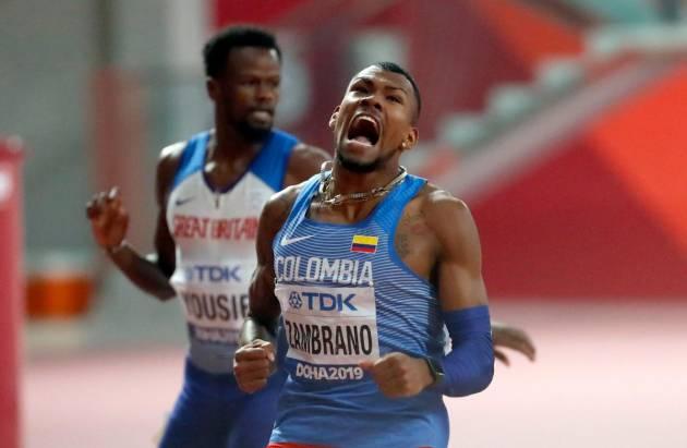 Anthony Zambrano corre a esta hora para seguir haciendo historia en Doha