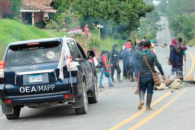 Indígenas lideraron nueva jornada de manifestaciones en Colombia
