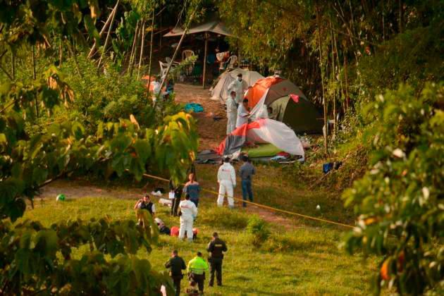 Cinco personas fueron asesinadas mientras acampaban en Manizales