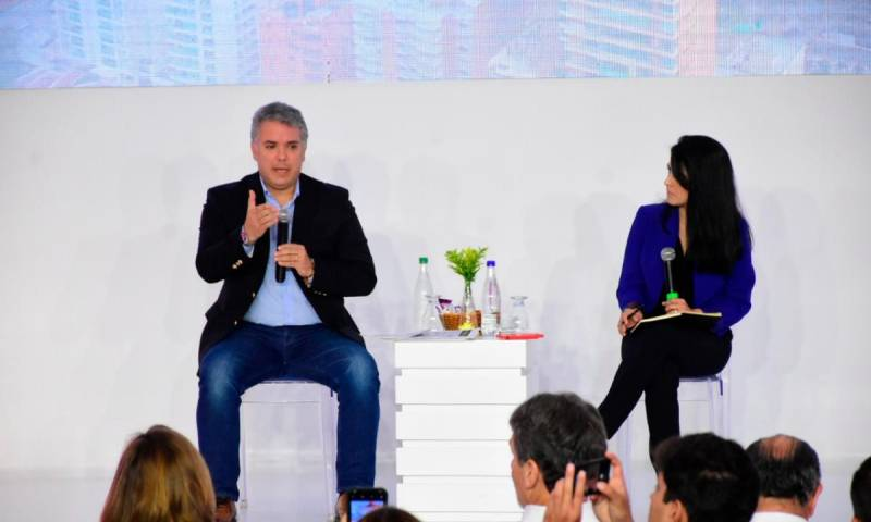 El presidente de Colombia, Iván Duque Márquez, en el 'Busisness Future of the Americas'.//CORTESÍA
