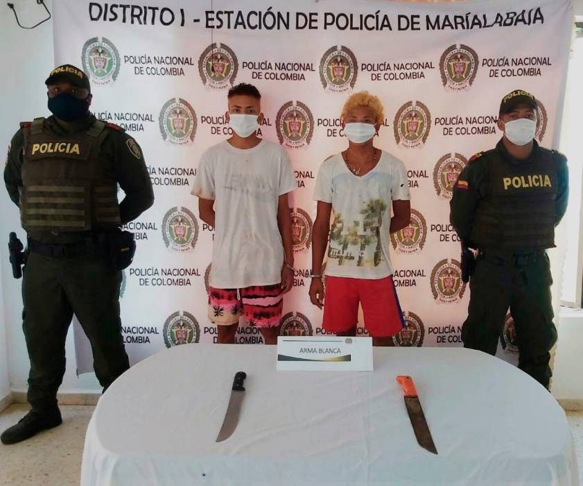 Violaban medidas sanitarias e intentan agredir a policías con machetes