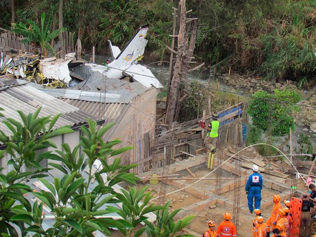 La aeronave llevaba nueve pasajeros a bordo. // Colprensa