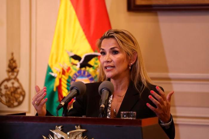 La mandataria interina de Bolivia, Jeanine Áñez. // EFE.