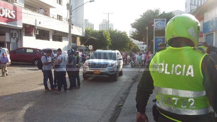 El suceso ocurrió frente a Kia Motors del Pie de la Popa. // Foto: Luis Eduardo Herrán.
