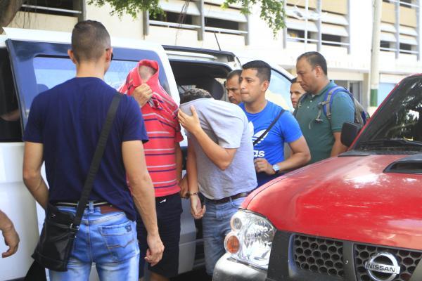 Los capturados fueron llevados a audiencia en Centro de Servicios Judiciales, en el Centro Histórico.// El universal.