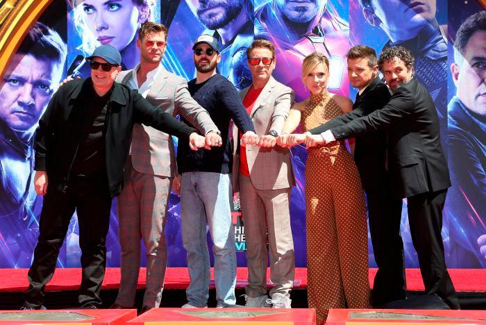 Actores de Avengers: Endgame en lanzamiento de la cinta.