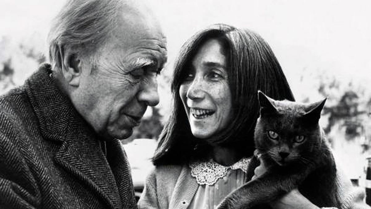 Jorge Luis Borges y su amor: María Kodama. //Archivo Fundación Jorge Luis Borges.