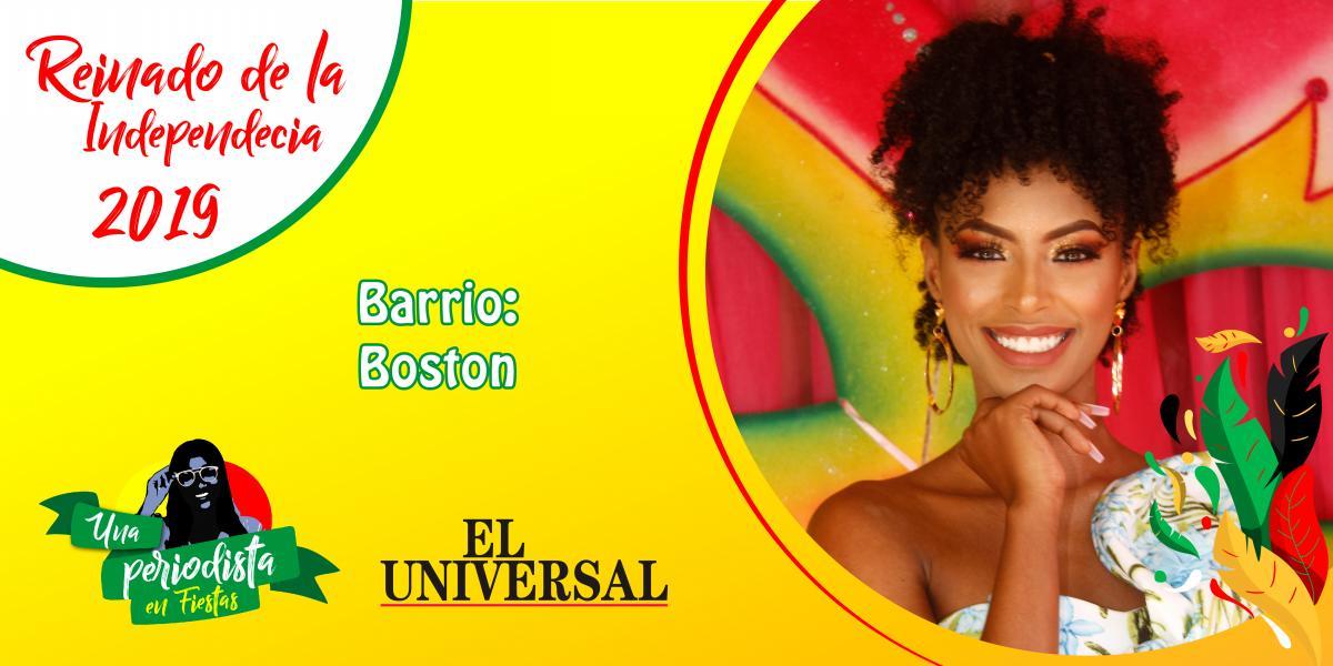 Daniela Torres es la representante del barrio Boston