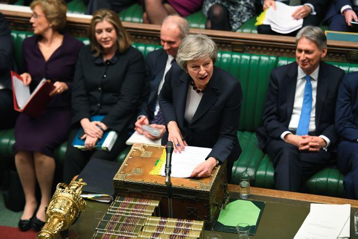 La primera ministra británica, Theresa May. AP