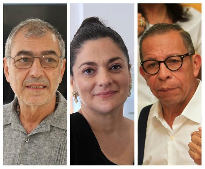 William Dau, alcalde electo; Mónica Fadul, gerente designada; y Cesár Pión, concejal.