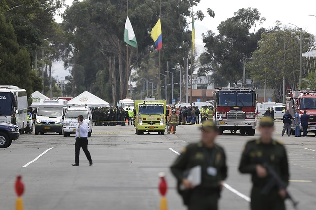 El pasado jueves, 17 de enero, hubo una explosión en el interior de la Escuela General Santander de la Policía en el sur de Bogotá. (Colprensa - Sergio Acero)