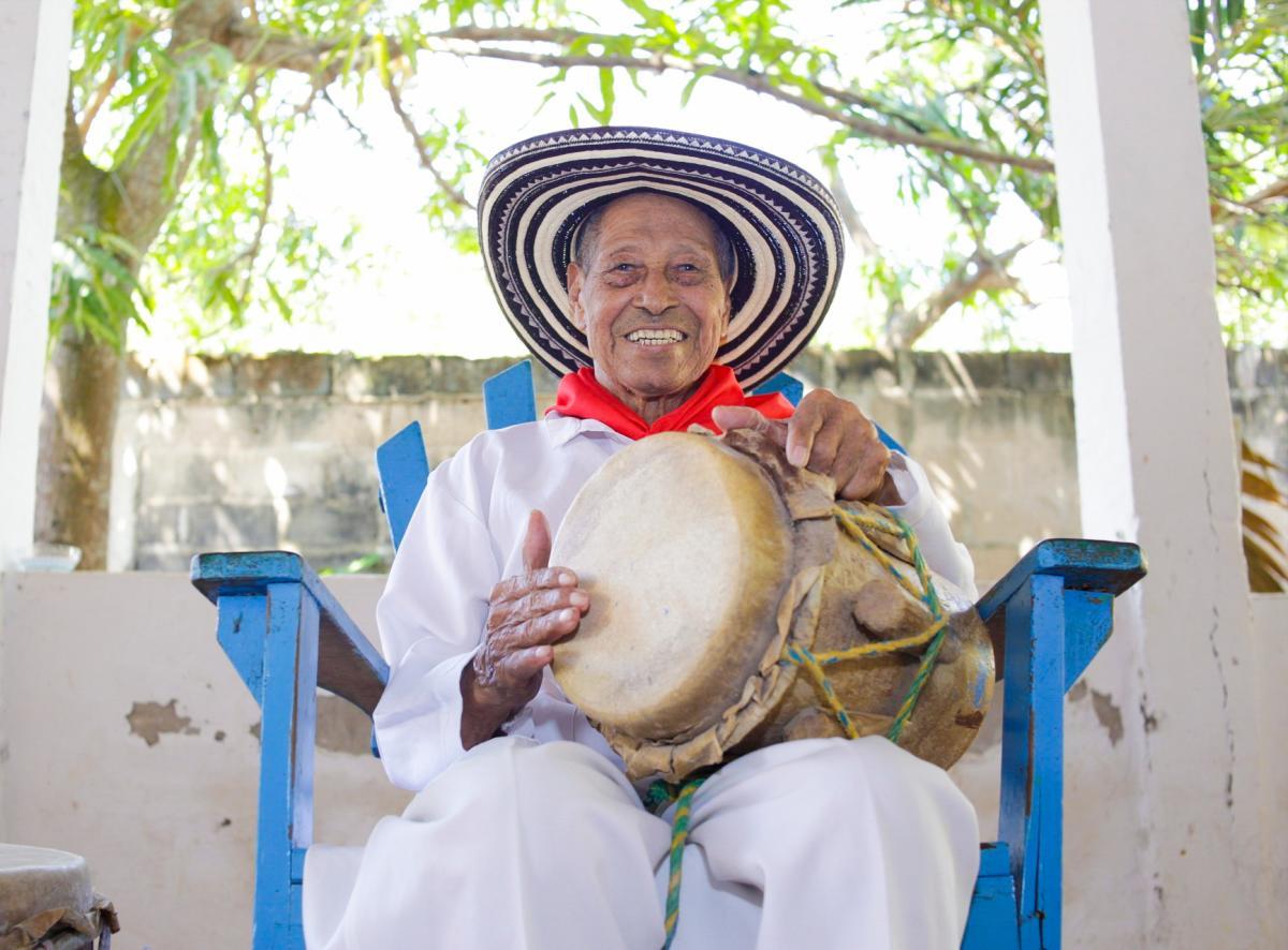 Catalino Parra (1924- 2020), el último de los juglares de Soplaviento y leyenda de la música.//Foto: Cristian Castro Martelo.