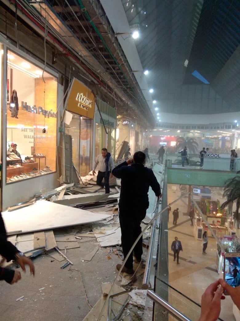 Se desploma parte del cielorraso del centro comercial Unicentro, en Bogotá