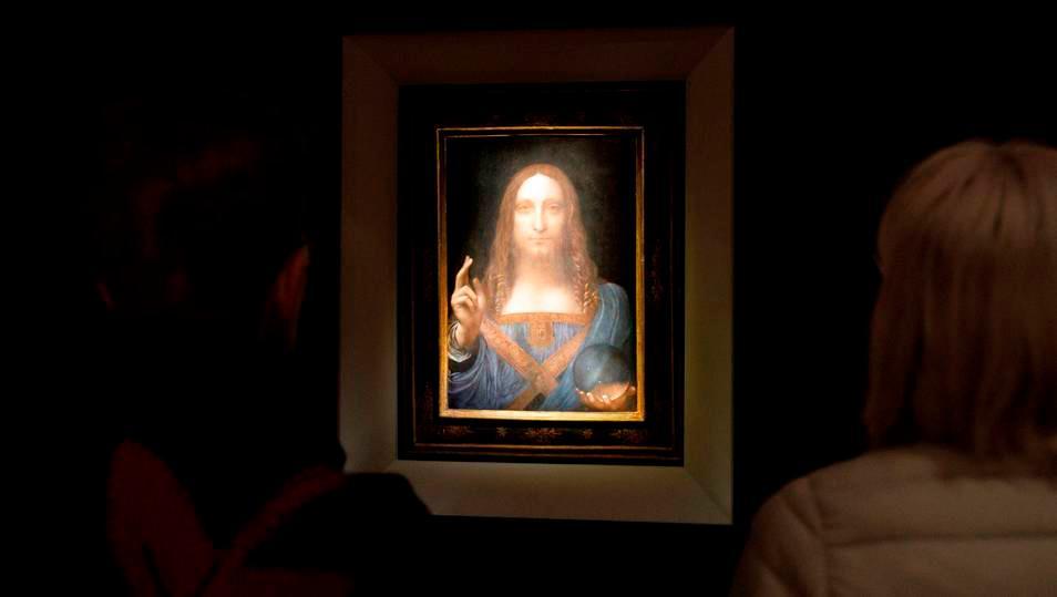 """""""Salvator Mundi"""", la obra más cara de la historia (subastada por 450 millones de dólares) y también la única de Da Vinci en manos privadas."""