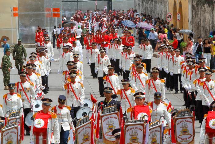 Tradicionalmente el Desfile de Independencia se hace en el Centro Histórico. // Cortesía