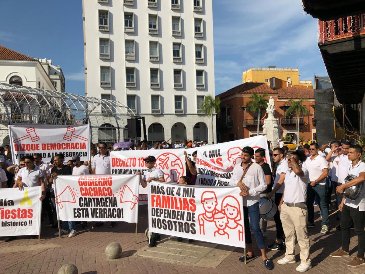 Los comerciantes afirman que no son generadores de alteraciones del orden público. //Luis Herrán.