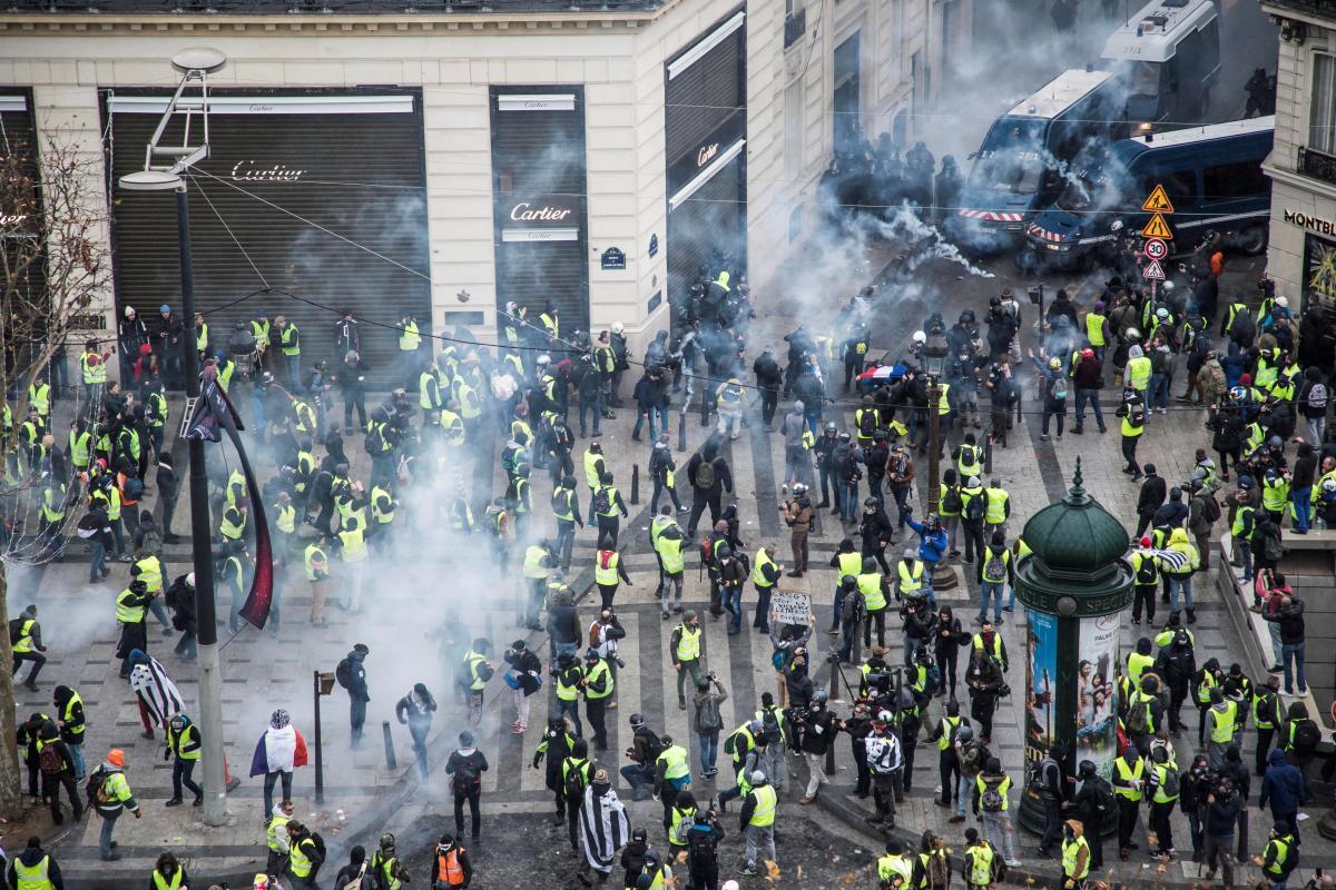 Disturbios en París.