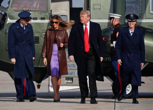Donald Trump y Melania durante su viaje a Argentina a la Cumbre G20 //EFE