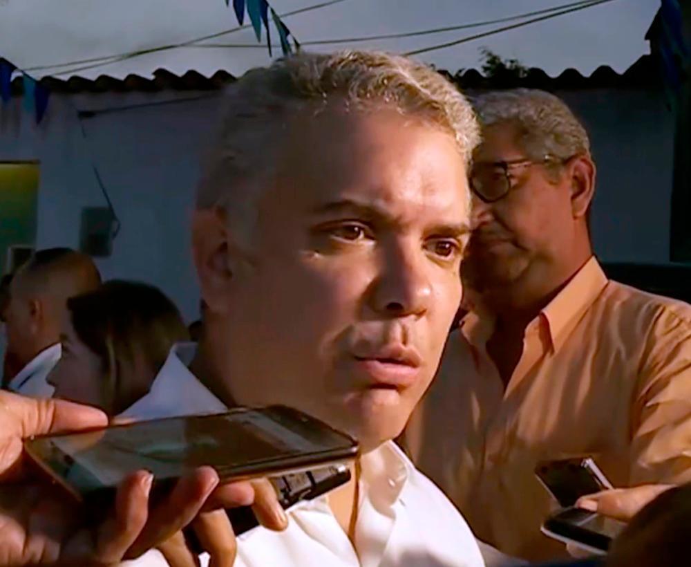 Iván Duque durante su paso por Barranquilla. // Juan Manuel Cantillo.