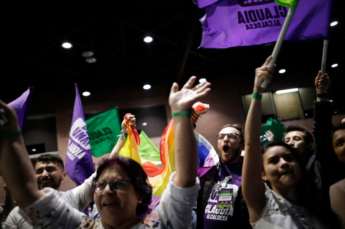 Seguidores de Claudia López celebraron la victoria en Bogotá