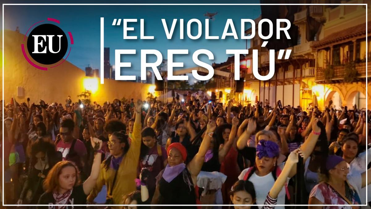 [Video] 'Un violador en tu camino' se tomó Cartagena