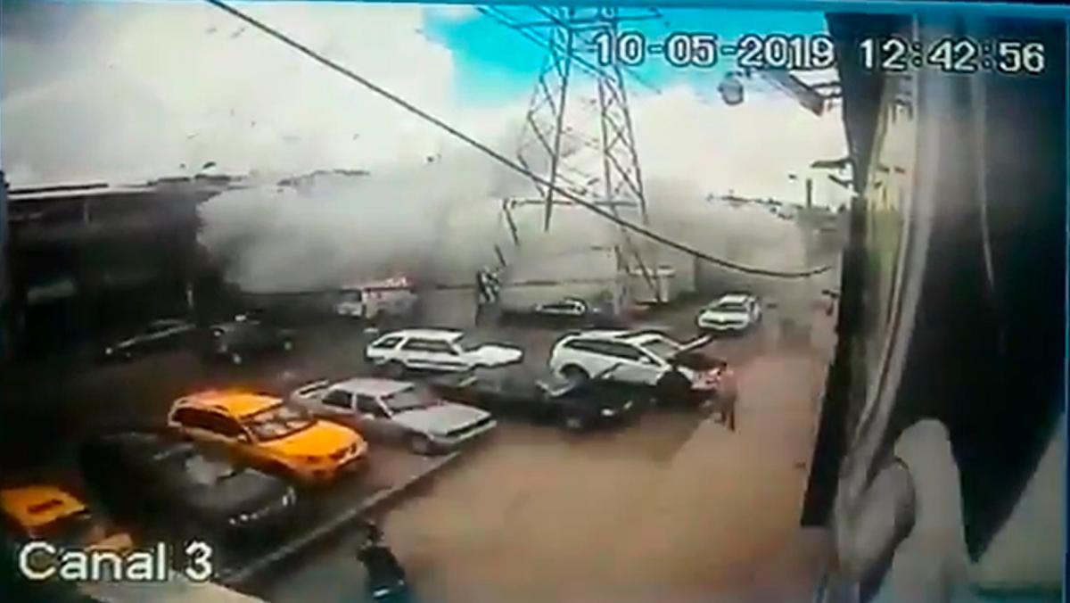 Vídeo: momento exacto de la explosión en la Avenida Rojas de Bogotá