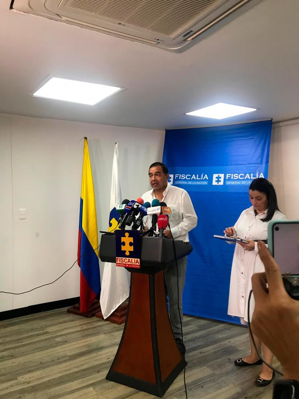 El fiscal General encargado, Fabio Espitia, llegó hoy a Cartagena. // El Universal