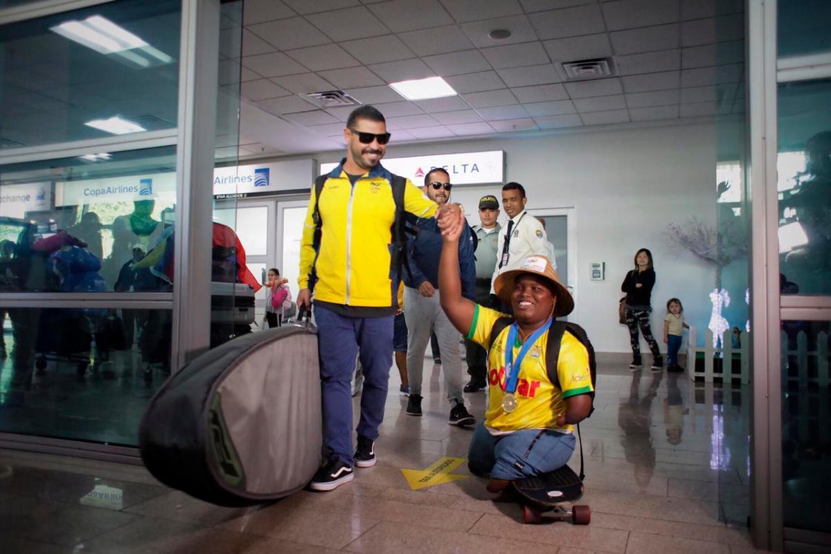 Freddy Marimón arriba a Cartagena. // Foto Cortesía Andrés Espinosa