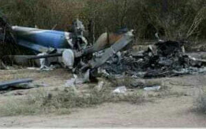 Helicóptero atacado en Hacarí, Norte de Santander. Foto: Cortesía