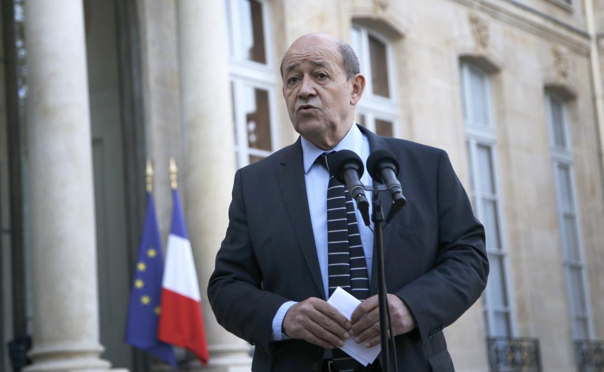 Jean-Yves Le Drian, ministro de Defensa francés. //EFE.