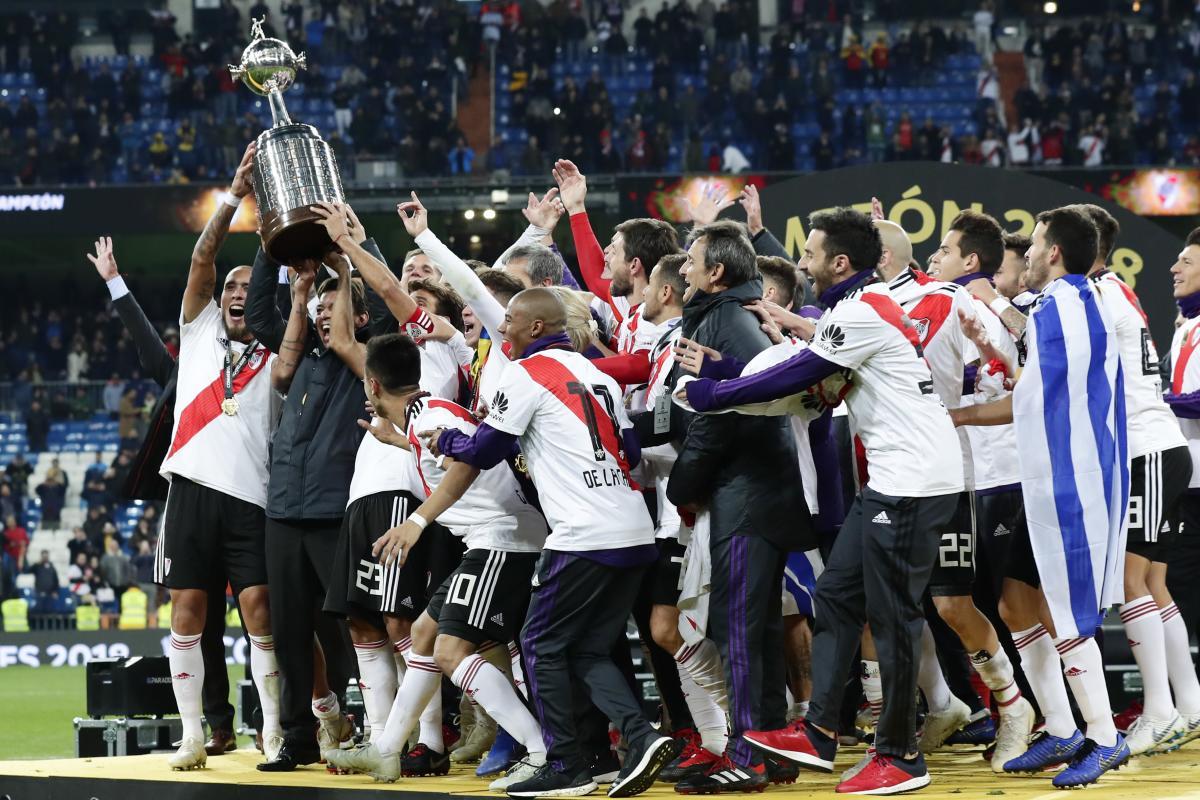 River Plate derrotó este domingo (3-1) al Boca Juniors en el estadio Santiago Bernabéu de Madrid. // AP