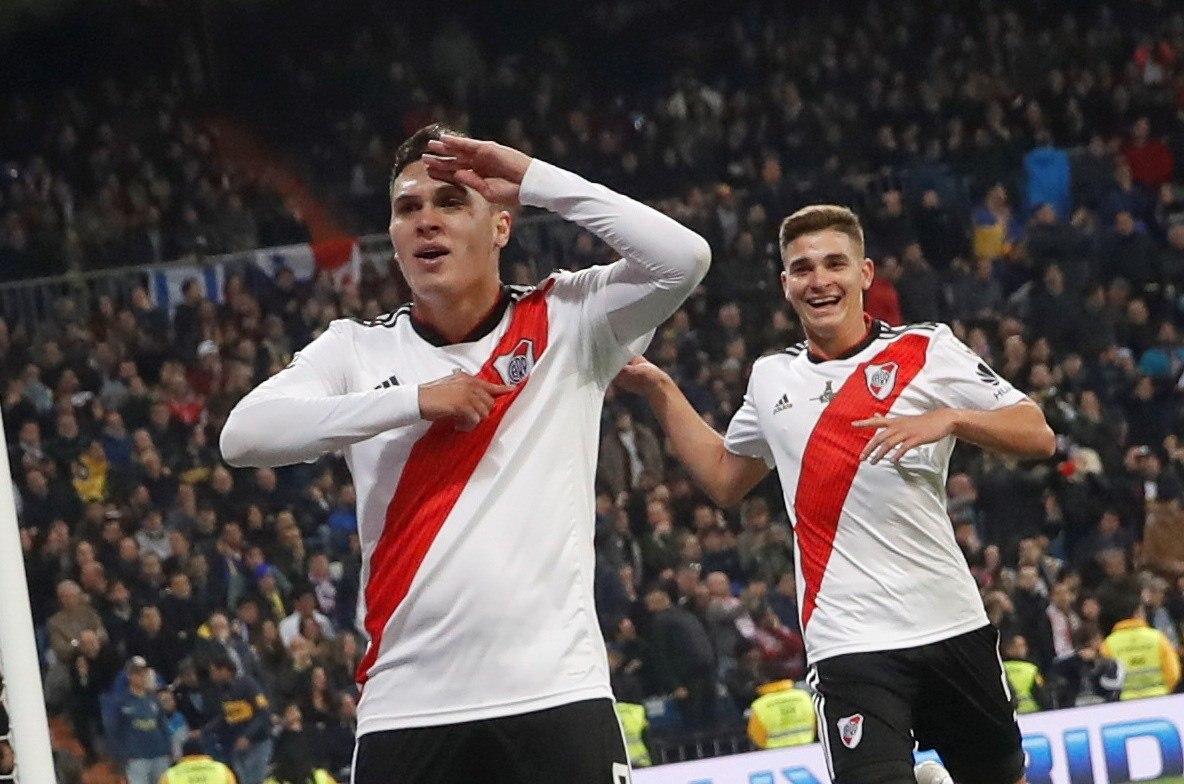 Juan Fernando Quintero marcó el segundo gol del River ante el Boca. // EFE