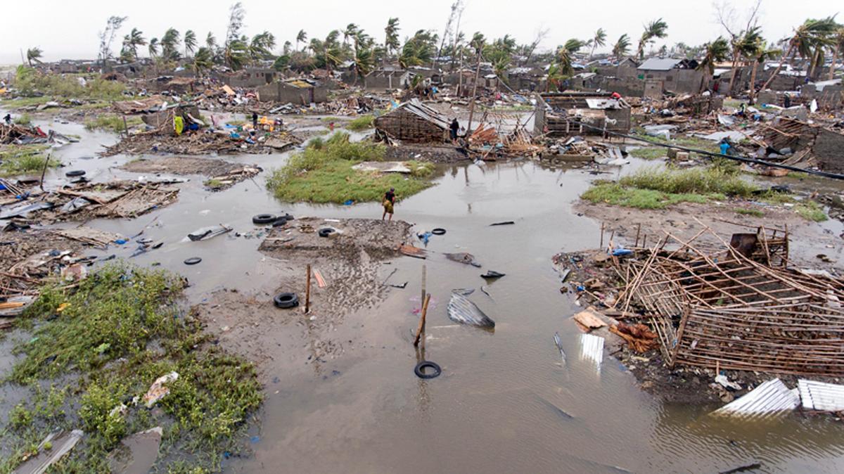 El 90% de la ciudad portuaria de Beira quedó destruida por el ciclón. // AP